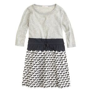 Crewcuts 2-in-1 Dress Wiener Dog Print B&W Size 14